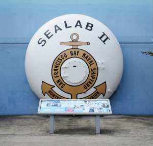 End bell for Sealab II shown on exhibit out the Naval Undersea Museum