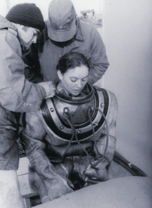 HTFN Donna Tobias wears a MK V rig during dive school