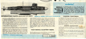 """The instructions that accompanied the Ethan Allen model kit described the newly commissioned submarine as the """"mightiest addition to the Polaris fleet."""""""